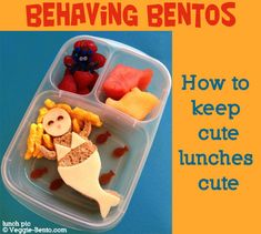 How to keep bento and cute lunches neat until lunchtime via Lester / EasyLunchboxes Back To School Lunch Ideas, School Lunch Box, Bento Box Lunch, Lunch Snacks, School Lunches, Lunch Boxes, Cute Food, Good Food, Cooking With Kids