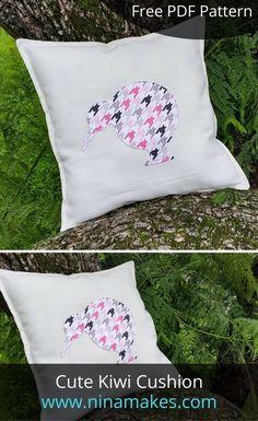 Cute Kiwi Cushion Free Pattern Tutorial