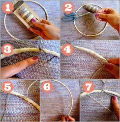 dreamcatcher tutorial, weaving pattern, how to