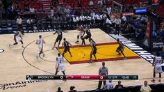 Hassan Whiteside looking dominant in the paint early on for the Miami Heat!