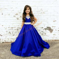 Pageant Dresses For Teens 2017 New Arrival With Beaded Neck And Floor Length Royal Blue Satin Ball Gown Pageant Dresses For Girls Size 12 Discount Flower Girl Dresses Dresses Kids From Uniquebridalboutique, $89.04| Dhgate.Com