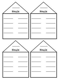 These are the perfect size for a portfolio/journals   Word Family Houses