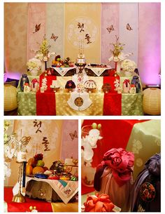 Korean Traditional 1st Birthday / Korean Dol / Renaissance Banquet Hall, CA / Designed by Siroo Flower & Party / 한국 돌잔치 전통 상차림