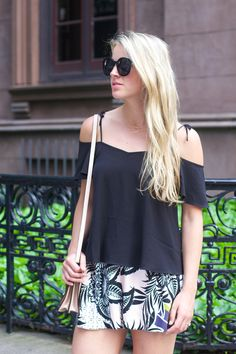 Palm Print Shorts By Styled Snapshots