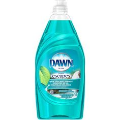 Say bon voyage to dirty dishes and hello to indulgent scents with Dawn Escapes dishwashing liquid. Try New Zealand Springs scent! Dishwashing Gloves, Dishwashing Liquid, Liquid Soap, Agua Mineral, Eco Friendly Cleaning Products, Dish Detergent, Dishwasher Detergent, Household Cleaners, Tags