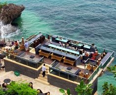The Best for the Adventurer: Rock Bar – Ayana Resorts and Spa, Bali Rock Bar, The Rock, Ayana Resort Bali, Resorts, Places To Travel, Places To See, Restaurant Hotel, Seaside Restaurant, Mykonos