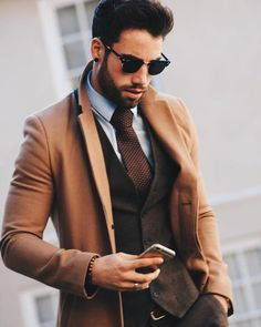 Brown suit for men