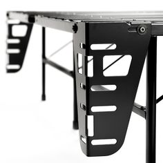 Sleep Revolution Bed Skirt and Headboard/Footboard Bracket - Set of 4 (Cal King), Black