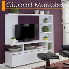 mueble Modern Tv Wall Units, Tv Unit Furniture, Tv Stand Designs, Tv Shelf, Living Room Tv Unit, Entertainment Center, My Dream Home, Wall Design, Wall Decor