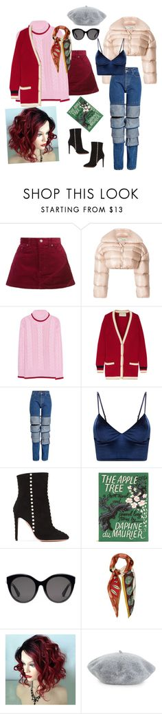 """Styling"" by sweetyincago ❤ liked on Polyvore featuring Marc Jacobs, Off-White, Gucci, Y/Project, Aquazzura, Olympia Le-Tan, Valentino and Helene Berman"