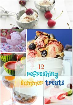12 Refreshing Summer Treats (link party features) - Design, Dining + Diapers