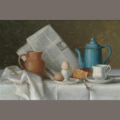 Gerald Norden (British, 1912-2000)  'Breakfast Table', 1975