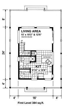 First Floor Plan of Contemporary House Plan 76008