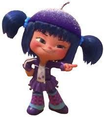 Citrusella Flugpucker- a sugar rush racer. She is a purple/blue pallet swap of Jubileena Bing Bing.