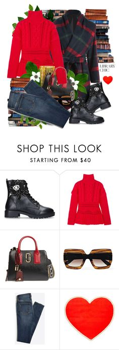 """Work Hard, Play Hard: Finals Season"" by hamaly ❤ liked on Polyvore featuring Altuzarra, Marc Jacobs, Gucci, ban.do, outfit, Sweater, ootd and trends"
