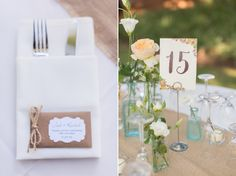 Real Wedding: Burlap Backyard Wedding