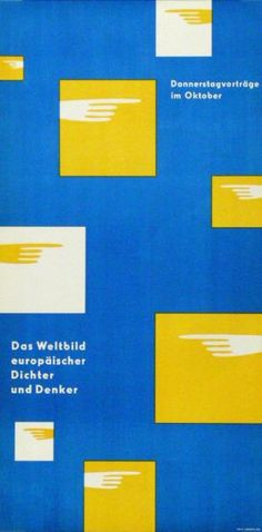 Das Weltbild europäischer Dichter und Denker - Donnerstagvorträge im Oktober-Plakat
