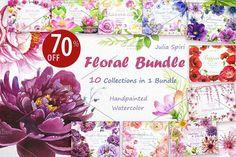 70% OFF!! Floral BUNDLE. 10 in 1 by Julia Spiri on @creativemarket