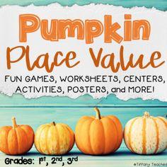 Pumpkin Place Value - Common Core 2.NBT.1 by Tiffany Teaches   TpT