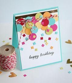 Birthday Confetti card by Dani at @Studio_Calico
