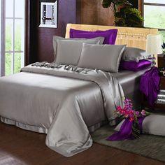 19 Momme Silk Sheets Satin Bedding, Duvet Bedding, Bedding Sets, Silk Sheets, Flat Sheets, King Size Duvet Covers, Beds Online, Queen, Quartos