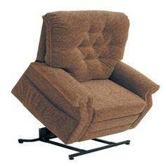 "Catnapper - Patriot ""Pow'r Lift"" Full Lay-Out Recliner in Autumn Chenille - 4824A"