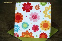 Blank Mini Card Set of 10 Petite Sunny Floral with a by mad4plaid, $5.00