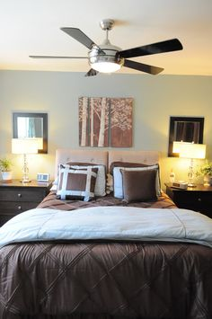 Organizing Made Fun: Our master bedroom: tricks to make it feel bigger & organized