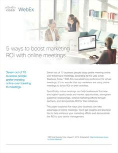 5 Ways to Boost Marketing ROI with Online Meetings