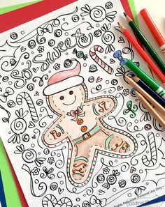 Gingerbread Man Coloring Page by Jen Goode