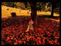 """Under the Magnolia Tree"" Forest Hills Cemetary Chattanooga, Tennessee www.pennigoodeevans.artpickle.com"
