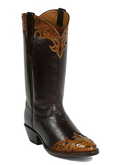 Black Jack Hand Tooled Cowboy Boot #85 - Hand Tooled Boots