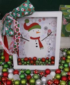 Snowman Shadow Box