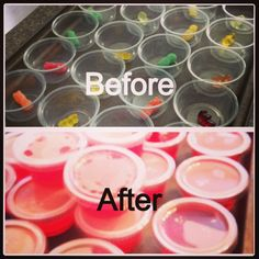 Gummie Bear and Sour Patch Jell-O shots (alcohol free). Great for parties and summer snack!   If you try this let me know what you think?