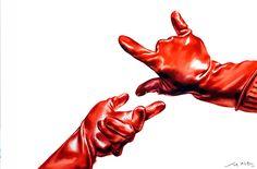 기초디자인 고무장갑 개체시범  #기초디자인#미대입시#입시미술#시범#기디#개체표현#시범#서지원 https://www.instagram.com/illustrater_ace/