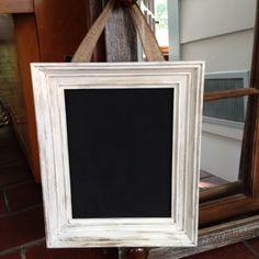 White framed Chalkboard Wedding Table by FreshRestorations on Etsy, $42.00