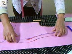 como traçar vestido interpretar camisete e como traçar blusa cigana