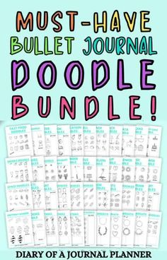 Become a doodling pro with this ultimate printable bullet journal doodle bundle! #doodle #bulletjournaldoodles #bujo Happy Doodles, Bujo Doodles, Cool Doodles, Simple Doodles, Easy Doodles Drawings, Easy Doodle Art, Doodle Ideas, Doodle For Beginners, Birthday Doodle