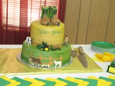 I made this cake for a John Deere theme baby shower.