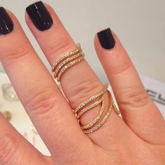 """""""Loving this two-piece ring from @effyjewelry today! #jewelry #style #trends"""""""