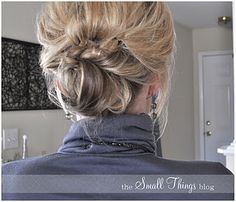 Cute updo for medium hair