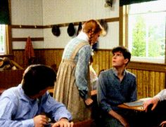 """There's a world of difference between being called crow-head and being called carrots. I shall never forgive Gilbert Blythe. The iron has entered my soul, Diana. My mind is made up; my red hair is a curse."" (gif of Anne smashing the slate over Gilbert's head)"