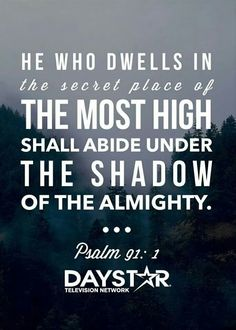 Psalms 91:1 Psalm 91 1, Psalms, Christian Faith, Christian Quotes, Shadow Of The Almighty, Bible Society, Under The Shadow, Favorite Bible Verses, Secret Places