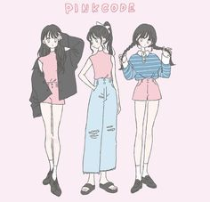Aesthetic Art, Aesthetic Anime, Character Art, Character Design, Cute Art Styles, Chica Anime Manga, Fashion Design Drawings, Korean Art, Drawing Clothes