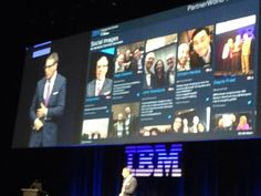 Martin Jetter on stage selfie at #IBMPWLC with IBM EC powered by MutualMind