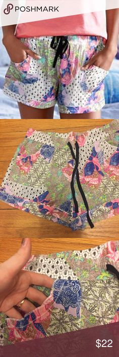 VS Bali Patchwork Ruffle Pocket Shorts! Super cute! Bali Patchwork print! Black waist tie! Ruffle trim pockets in front! Cotton! Cute! Brand new with tags! No holds or trades! Final price unless bundled :) I ONLY sell on Poshmark! Feel free to ask any questions that are not clarified above :) IN500# Victoria's Secret Intimates & Sleepwear Pajamas