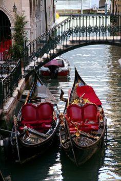 Venetian gondolas...