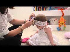 Como fazer um Laço fácil para bebê, criança e ensinado como fazer o molde - YouTube