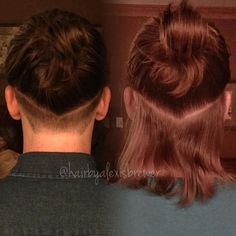 Men's undercut #ManBun @hairbyalexisbrewer