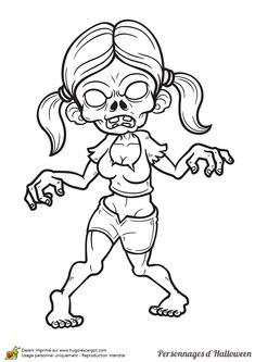 Zombie   Rybread Studio   Halloween coloring pages, Super ...